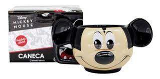 Caneca 300ml Formato 3d Mickey Vintage - Zona