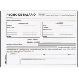 Bloco Recibo 100f Salario - Tilibra