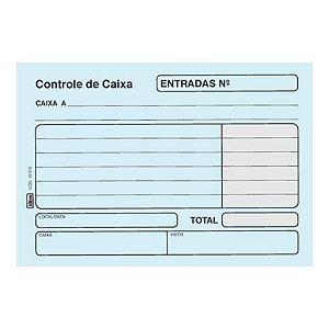 Livro 100f Controle Caixa Entrada Azul - Tilibra