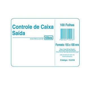 Livro 100f Caixa Saida Amarelo - Tilibra