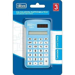 Calculadora Bolso Tc21 Azul - Tilibra