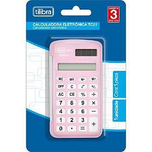 Calculadora Bolso Tc21 Rosa - Tilibra