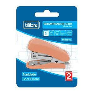 Grampeador 12f G101 Mini Salmao - Tilibra