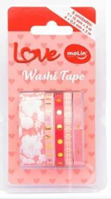 Washi Tape C/5 Love Sortido - Molin