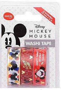 Fita Washi Tape 15mmx3m C/3 Mickey - Molin