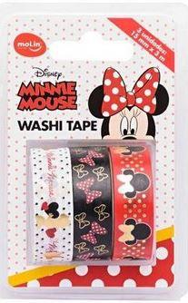 Fita Washi Tape 15mmx3m C/3 Minnie - Molin