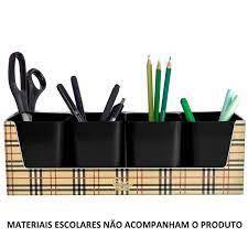 Kit Galex C/4 Porta Objetos Preto - Dello