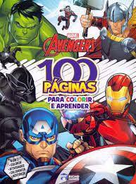 100 Paginas P/colorir Marvel Avengers - Bicho