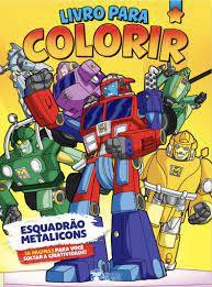 Livro P/colorir Meninos Esquadrao Metalicons-bicho