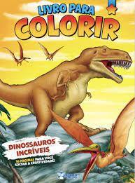 Livro P/colorir Meninos Dinossauros Incrivei-bicho