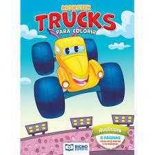 Colorir Monster Trucks Radicais - Bicho Esperto