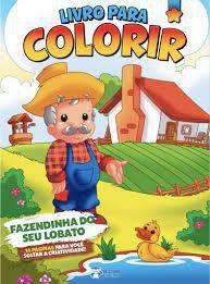 Livro P/colorir Meninos Fazendinha Seu Lobat-bicho