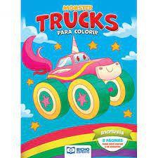 Colorir Monster Trucks Incriveis - Bicho Esperto