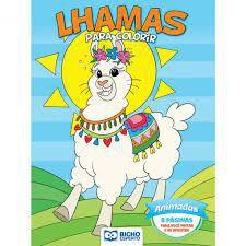 Colorir Lhamas Animadas - Bicho Esperto