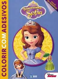 Disney Colorir Adesivo Princesinha Sofia - Bicho