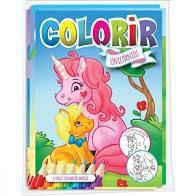 Solapa C/8 Colorir Unicornios - Bicho Esperto