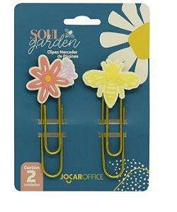 Clipes 7,5cm C/2 Soul Garden Abelha - Jocar