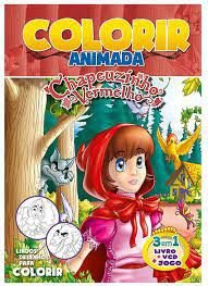 Colorir Animada - Chapeuzinho Vermelho - Bicho