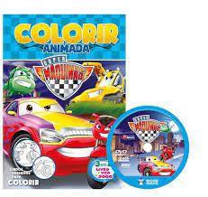 Colorir Animada - Super Maquinas - Bicho Esperto