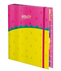 Caderno Fichario Argolado 1/4 48f Hello - Dac