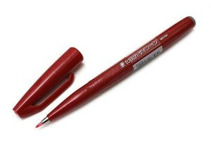 Brush Pen Sign Vermelha - Pentel