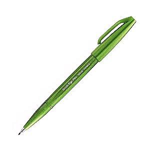 Brush Pen Sign Verde Oliva - Pentel