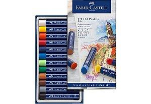 Estojo 12 Cores Giz Pastel Oleoso - Faber Castell