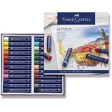 Estojo 24 Cores Giz Pastel Oleoso - Faber Castell