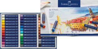 Estojo 36 Cores Giz Pastel Oleoso - Faber Castell
