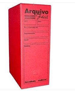 Arquivo Morto Pratico Multionda Vermelho -alaplast