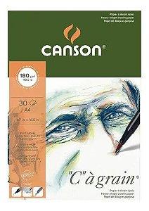 Bloco A4 180g 30f Grain Grao Fino Cc - Canson