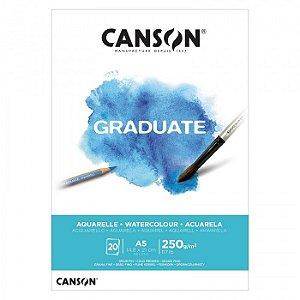 Bloco A5 250g 20f Graduate Aquarela - Canson