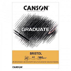 Bloco A3 180g 20f Graduate Bristol - Canson