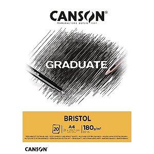 Bloco A4 180g 20f Graduate Bristol - Canson