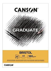 Bloco A5 180g 20f Graduate Bristol - Canson