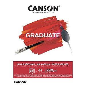 Bloco A4 290g 20f Graduate Oleo E Acrilico -canson