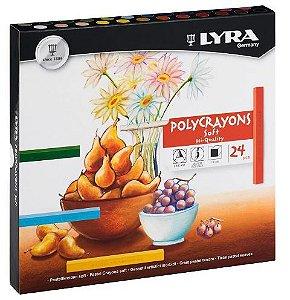 Giz Lyra Polycrayon Pastel Seco 24 Cores - Canson