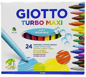 Estojo Hidrocor 24 Cores Giotto Turbomaxi - Canson