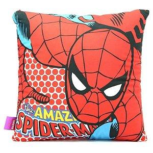 Almofada 40x40cm Fibra Veludo Spider Man Pop- Zona