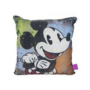 Almofada 40x40cm Fibra Veludo Mickey Mouse - Zona