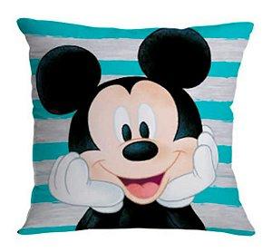 Almofada 40x40cm Fibra Veludo Mickey Friends- Zona