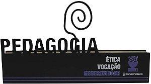 Placa Porta Retrato Mda Profissao Pedagogia - Zona