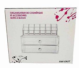 Organizador Plastico 10x19cm Maquiagem - Dmais