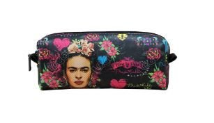Necessaire Peq Estampa Frida Kahlo Preta - Logo