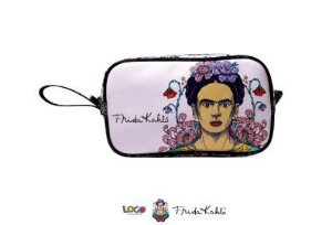Necessaire Vivo Estampa Frida Kahlo Lilas - Logo