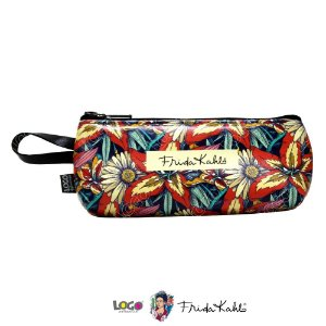 Necessaire Porta Oculos Frida Kahlo Flores - Logo