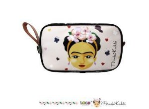 Necessaire Vivo Estampa Frida Kahlo Rosa - Logo