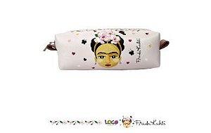 Necessaire Peq Estampa Frida Kahlo Rosa - Logo