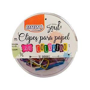 Clipes 2mm C/50 Colorido - Brw