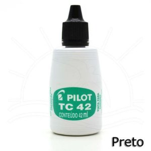 Tinta Carimbo 42ml Preta - Pilot